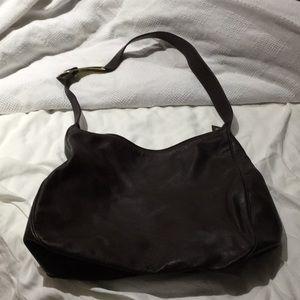 Via spiga brown leather bag gold hardware guc
